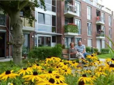 Der AVILA Wohnpark St. Teresa ist in Berlin-Tempelhof gelegen. Die neun Wohngebäude und das Beg...