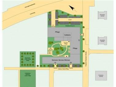 Mit der Einrichtung Service-Wohnen & Pflege CentroVerde - im Stadtteil Neckarstadt Ost auf dem e...