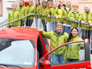 """Der Ambulante Pflegedienst """"Mainterrasse"""" ist inmitten von Hanau am Kurt-Blaum-Platz 8 i..."""