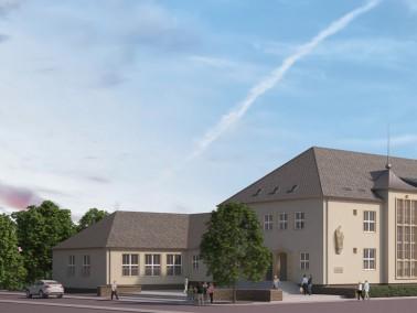 In zentraler Lage von Zschopau wird aus der ehemaligen Berufsschule das neue advita Haus Zschopau. I...