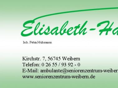 Die Ambulante Pflege ist ein Bereich im Leistungsangebot des Seniorenzentrum Elisabeth-Hauses in Wei...