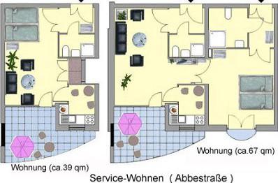 hansa service wohnanlage abbestra e in bremerhaven auf wohnen im. Black Bedroom Furniture Sets. Home Design Ideas
