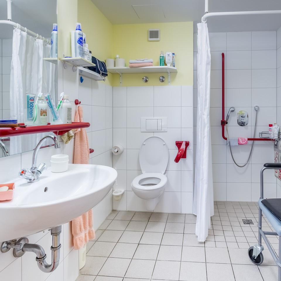 Auch Die Sanitären Anlagen Sind Barrierefrei Gestaltet
